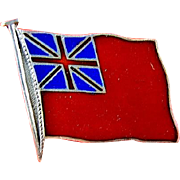 British Red Ensign Flag Pin Sterling (circa WWII)