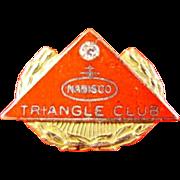 Nabisco Company Triangle Club Pin 10-30 Years Service Award Pin 10K & Diamond