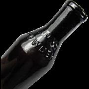 Lyon's Powder B & P N.Y. Medium Dark Amethyst Open Pontil Bottle ca. 1850's