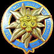 DAV 50 Year Member Alpine (Skiing) Club Badge