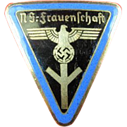 WWII German N.S-Frauneshaft Members Pin War Souvenir