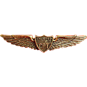 WWII CPT Civilian Pilot Training Enlisted Reserve Graduate Wings Danecraft Sterling