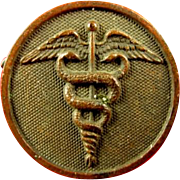 WWI US Army Medical Corps Enlisted Collar Insignia Disc