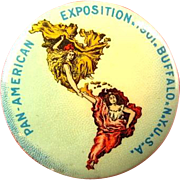 1901 Pan American Exposition Official Button Buffalo NY Advertising Pinback Button