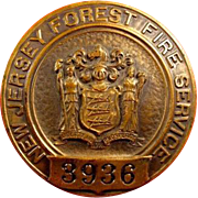 New Jersey Forest Fire Service Badge #3936 Whitehead & Hoag