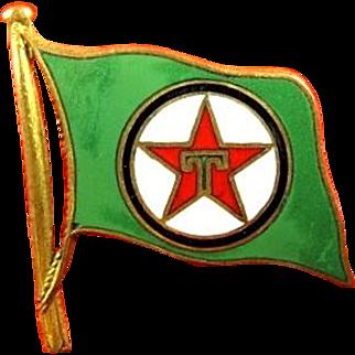 Texaco Oil Company Fleet Cap Badge Insignia ca. 1940s-1950s