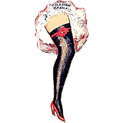 Bal Tabarin Paris Cabaret Night Club Can-Can Advertising Tin Spinner ca. 1930's
