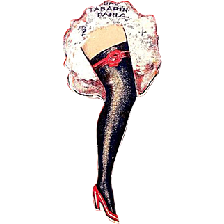 Bal Tabarin Paris Cabaret Night Club Can-Can Advertising Tin Spinner ca. 1930's