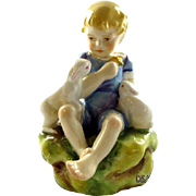 "Royal Worcester ""The Dandelion"" Porcelain Figurine F.G. Doughty Puce Mark 1936"