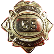Northern New York Telephone Corporation ID Badge ca. 1920's-1930's