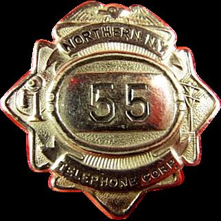 Northern New York Telephone Corporation ID Badge ca. 1920's-1930's