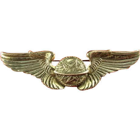 Wwii Us Army Air Corps Navigator Wings Frosted Back