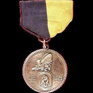 WWII US Navy Seabees Camp Endicott, (R.I.) N.C.T.C. Sport Boxing Medal Sterling