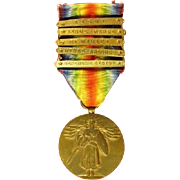 WWI US Army 2nd Division 5-Bar Victory Medal