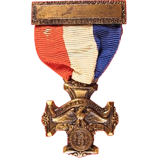 WWI Rahway New Jersey Service Medal W & H Company