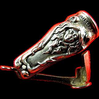 STERLING Art Nouveau Cigar Cutter Fob