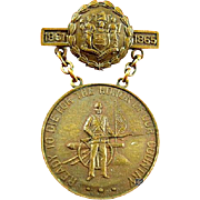 New Jersey Civil War Service Medal 33rd NJ Volunteer Infantry Regiment #4943 Awarded to: Mark Fohs Musician Co. I