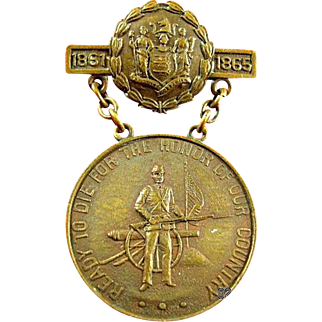 New Jersey Civil War Service Medal 33rd NJ Volunteer Infantry Regiment #4943 Awarded to: Mark Fohs Musician Co. I