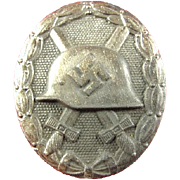 WWII German Silver Class Wound Badge Original (Acquired From Family Originally From Germany)