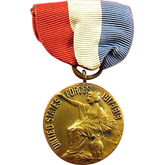WWI Madison, New Jersey War Service Medal 1917-1918