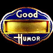 Good Humor Ice Cream Vendors Identification ID Badge ca. 1940's-1950's