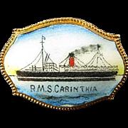 RMS Carinthia Cunard Lines Souvenir Pin ca. 1920s-1930's
