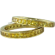 Superb Yellow Sapphire 18k Rings