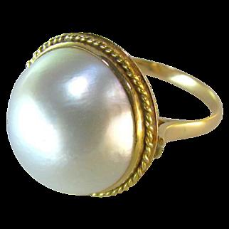 Elegant 14k circa 1940's Mabe Ring
