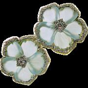 Exquisite Large Aquamarine 3 CT Diamonds 18k Earrings