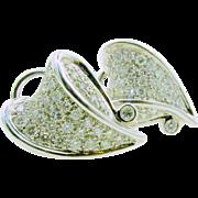 Chic Heart 2Ctw Diamond 14k Earrings