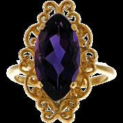 Luscious Amethyst 14k Ring - Gem Quality