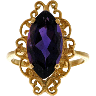 Luscious Amethyst 14k Ring - Gem Quality
