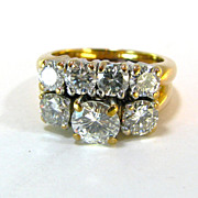 GIA Lab Cert 2.6 CTW Diamond Wedding Set
