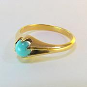 Elegant 18k Persian Turquoise Ring