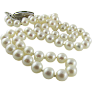 Vintage 16 inch MIKIMOTO Cultured Pearl Necklace