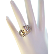 Lucky Frog 14k Diamond Ring