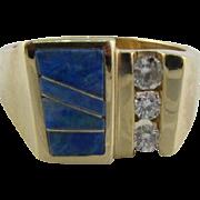 Classic Black Opal Diamond 14k Ring