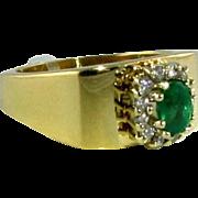 Emerald Diamond 14k Ring