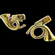 18k Gold Horn Cufflinks