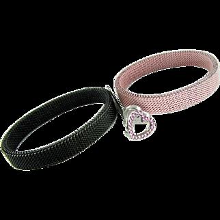 18k Sapphire Heart Mesh Bracelets