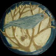 Rookwood Trivet / Tea Tile With Blue Bird