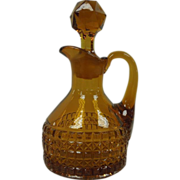 Amber Cathedral Cruet By Bryce Bros