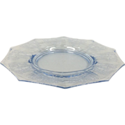 "Elegant Glass Cleo 8"" Plate By Cambridge Glass"