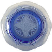 Royal Lace Sherbet Plate By Hazel Atlas In Cobalt Blue