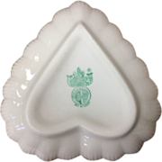 Irish Belleek Heart Shaped Candy Dish