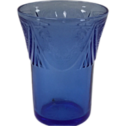 Royal Lace 5 oz Tumbler By Hazel Atlas In Cobalt Blue