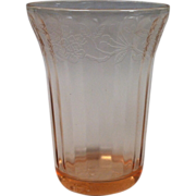 Depression Glass Cherry Blossom Tumbler By Jeannette In Pink