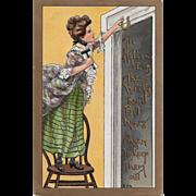 Vintage Embossed Halloween Postcard By H.B. Griggs Printed In Germany