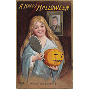 Vintage Halloween Postcard Signed By Ellen Clapsaddle Printed in Germany 1909