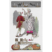 Vintage Halloween Postcard - A Jolly Halloween Fred Lounsbury 1907